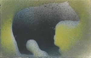 Bear - spray paint - Perry 2