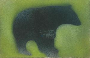 Bear - spray paint - Perry